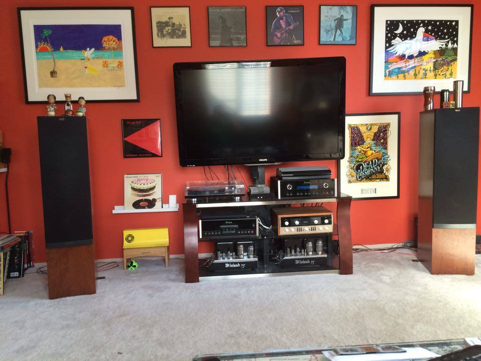 Miles C System:  McIntosh MC75 mono blocks (sequential Serial #'s) McIntosh C22 pre amp McIntosh MVP 852 (using as CD player) McIntosh MR85 tuner Rega RP8 with Denon DL-110 Klipsch RP7 II speakers