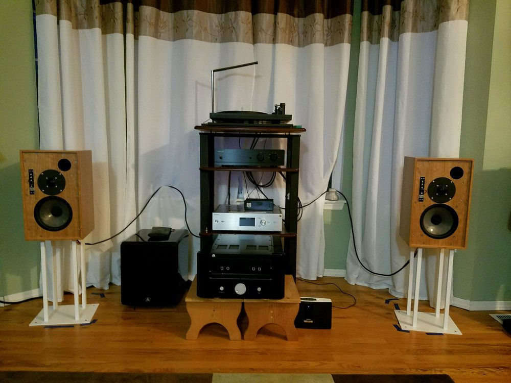 George M System:  Exposure 3010 integrated, Well Tempered Labs Amadeus turntable, Denon DL103R, Sony Hi-Res music player, Graham LS5/9 speakers.