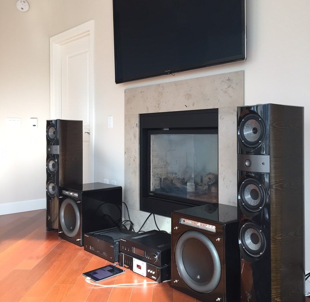 911 Michael System :  Cambridge Audio Azur 851E, Cambridge Audio 851W, Monster Power HTS 3600MKII, Focal 1028be, JL Audio F113V2 subs, Shunyata ZTron Pythons, Shunyata ZTron Python XLR.