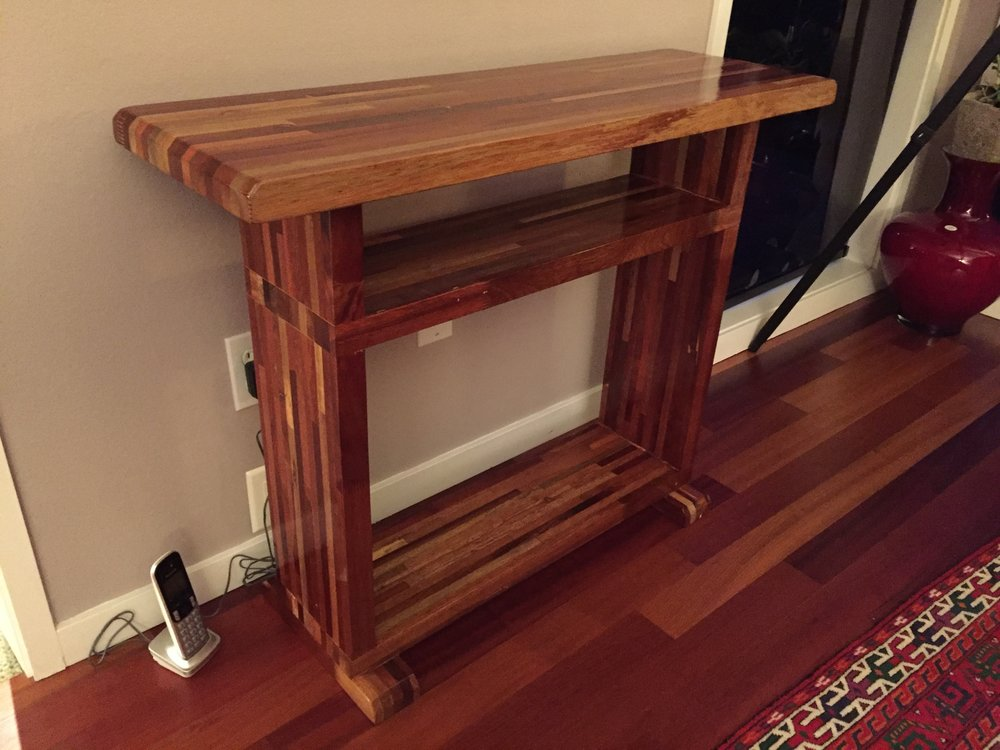 Mahogany book table. Sold.