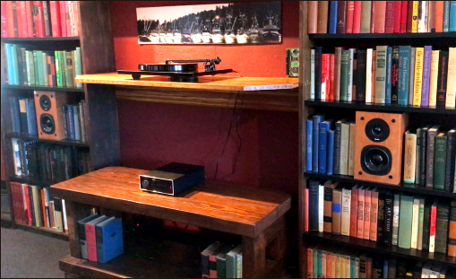 Bookcase system - Naim Nait 1, Rega P1, ProAc Tablette 10 speakers, Dub Narcotic Sound System