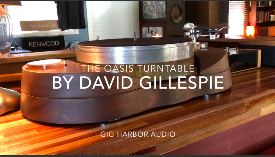 Oasis Turntable - By David Gillespie.  Naim Nait 1, Russell K Red 50 speakers, David Lynch