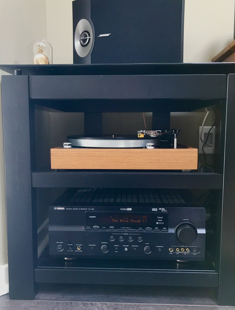 Paul W System: Yamaha, Bose, and a really really nice Thorens/Nagoaka MP110.