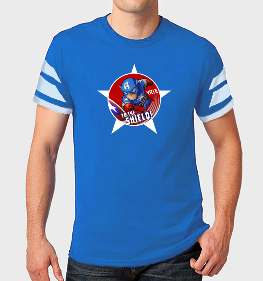 Above is a prototype of a design for a Captain America T-Shirt that I hope to have printed later this year (2017) just in time for Christmas.