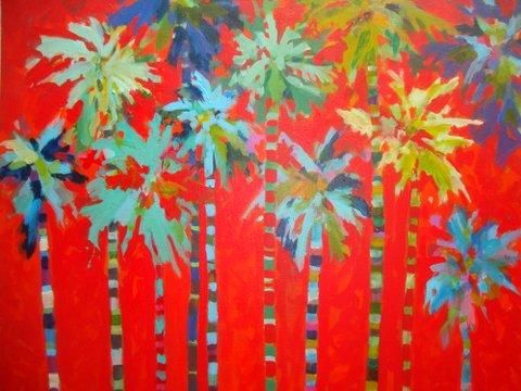 Palm Parade-by Shirley Wilson Blake-acrylic-24 x 24.JPG