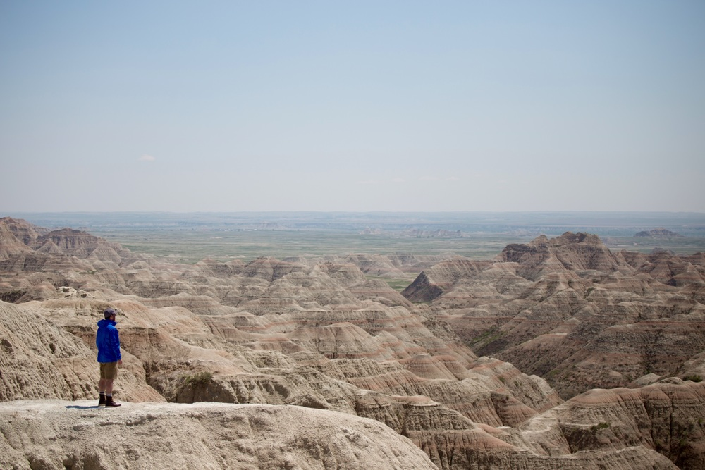 Taking in the view in the Badlands National Park