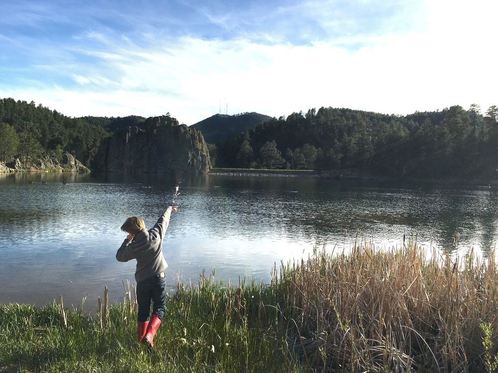We fished last night and we hope to do some more today!  We are on Legion Lake in Custer State Park