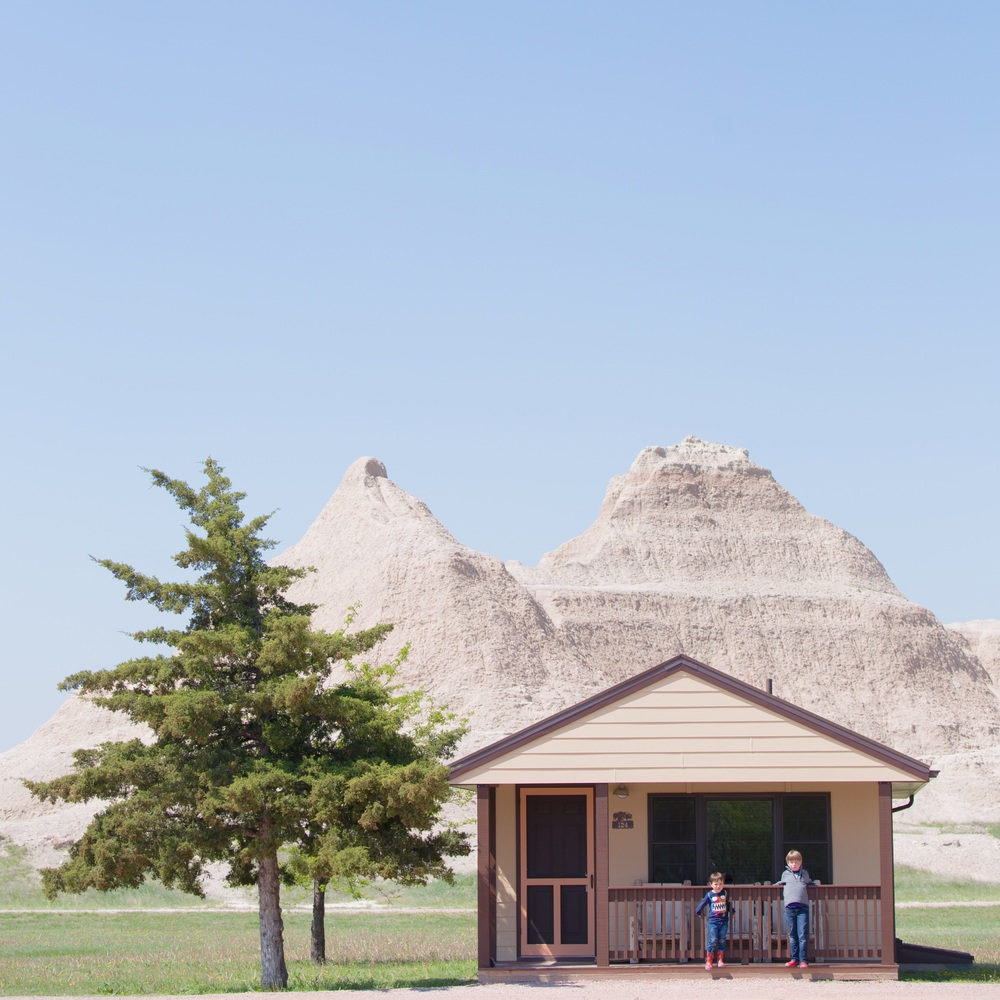 Our cabin in the Badlands. Cedar Pass Lodge. We loved it - we could've stayed there for a week!