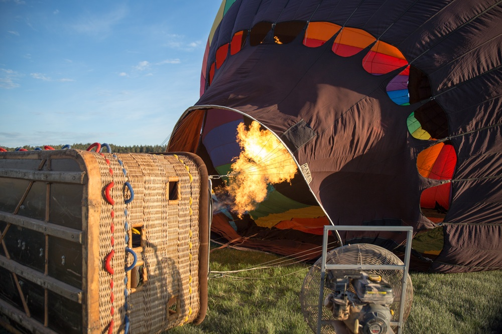 Using fire to inflate the balloon