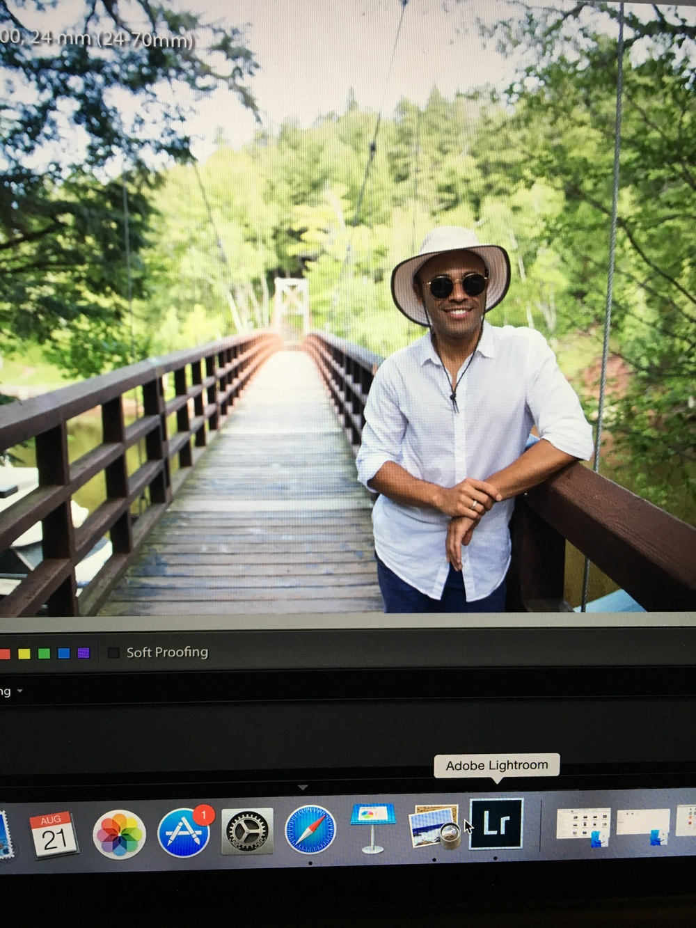 Sneak peek - a photo of a photo on my computer