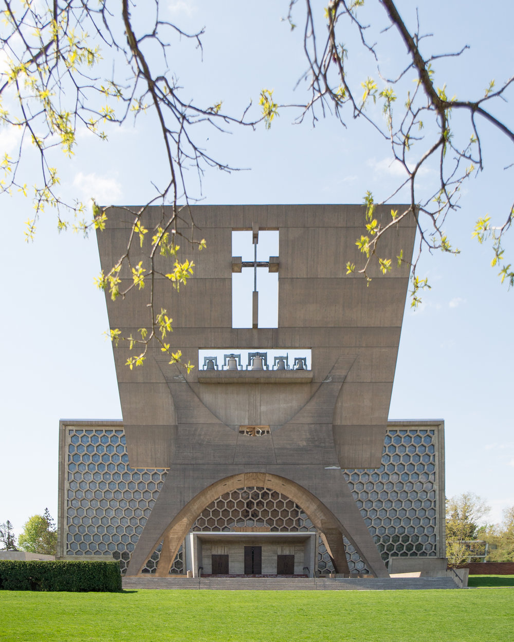 "The Abbey was designed by Marcel Breuer as ""an architectural monument to the service of God."""