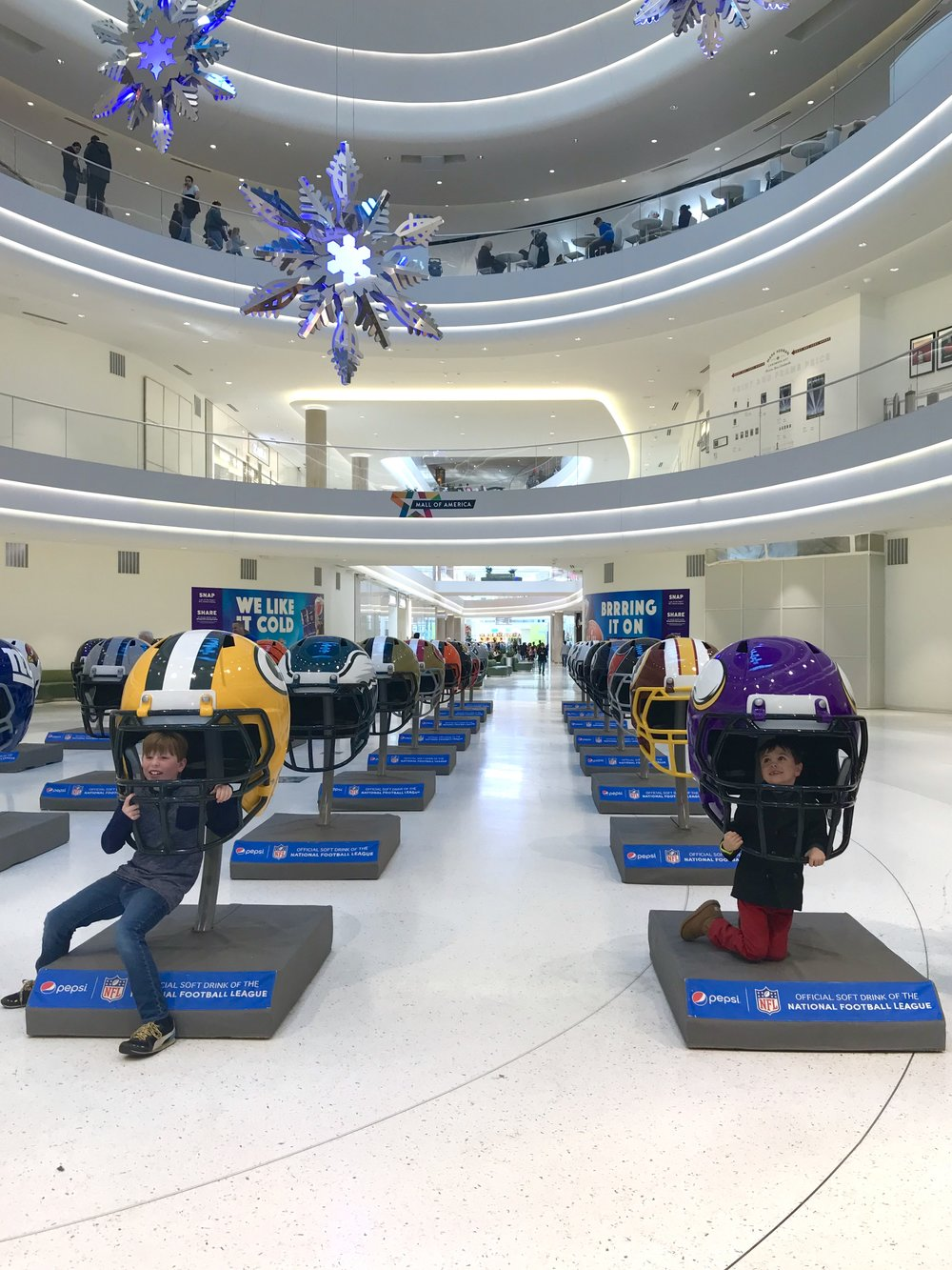 A visit to the Mall of America - they're getting ready for the Superbowl!