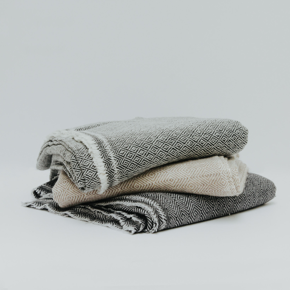 indian cashmere throw in nightfall - Cashmere Blanket