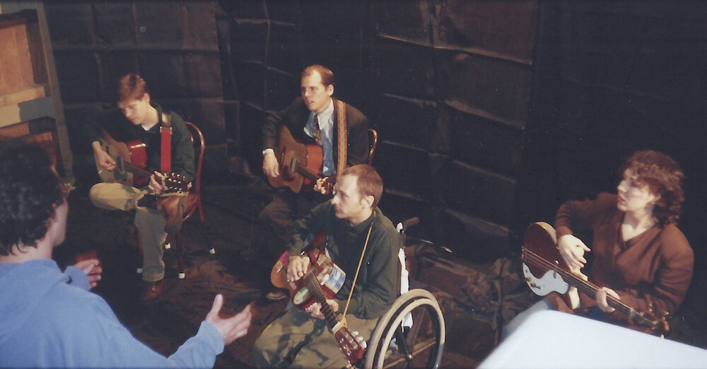 "PRODUCTION ASSISTANT SET PHOTOGRAPHER 1997   ""Ladle"" ( Vic Chesnutt )   Scott Stuckey , dir.  Location music video shoot  Athens, Georgia  (Capitol Records)"