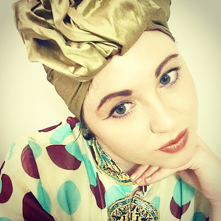 """ My Gold Dust Turban is so beautifully made for me it gets worn almost daily, i love it so much'  Testimonial form one of our Clients Melissa Bant."