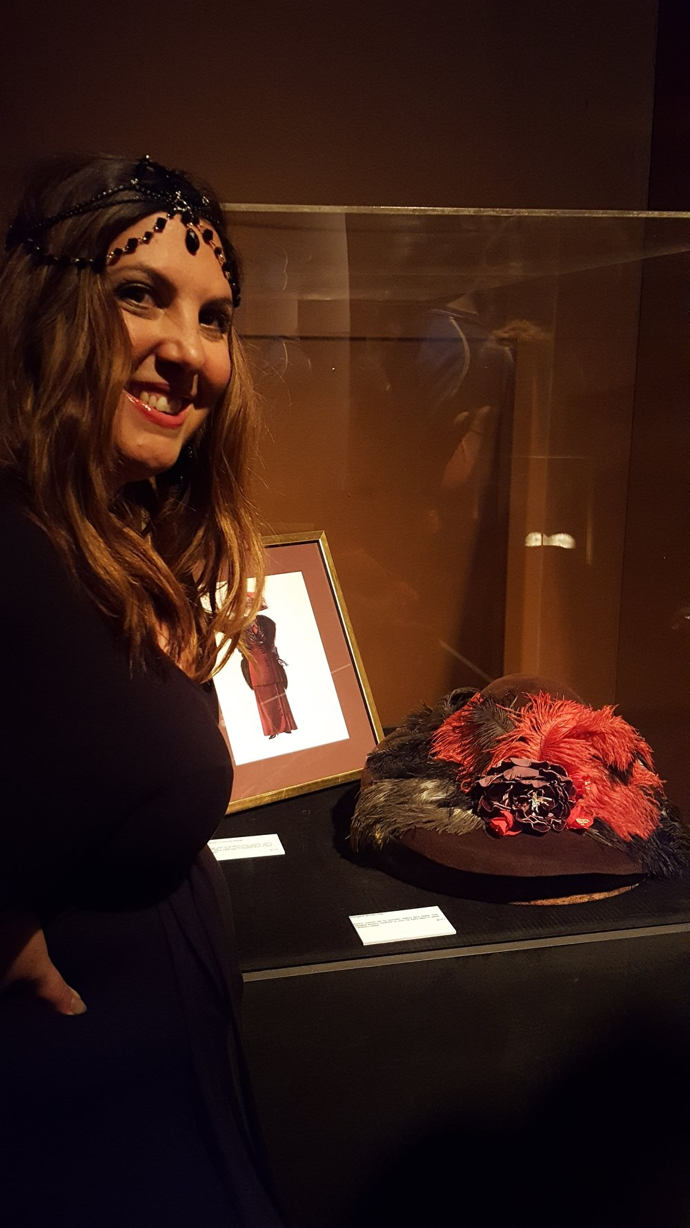 The House of Hats Molly Brown Hat in The Titanic Exhibition Sydney Milliner Sydney .jpg