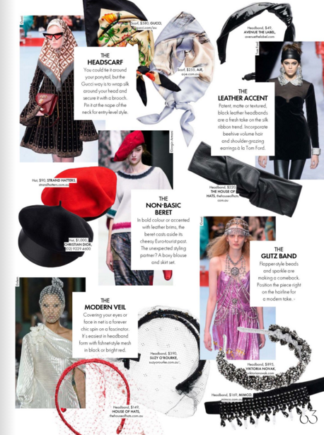 The House of Hats ELLE October 2018 Spring racing headpieces Sydney milliner.png