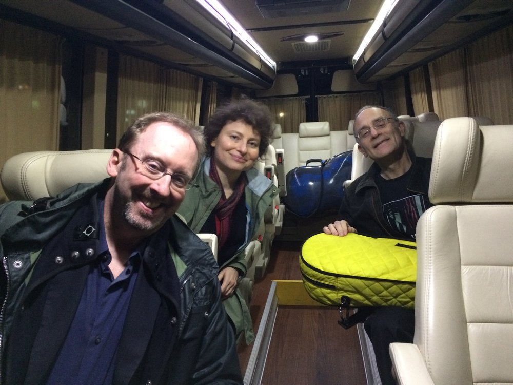 On the Concert Tour Bus in Israel