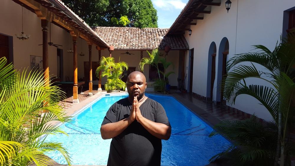 Jay Ray at Hotel La Bocona, Granada, Nicaragua