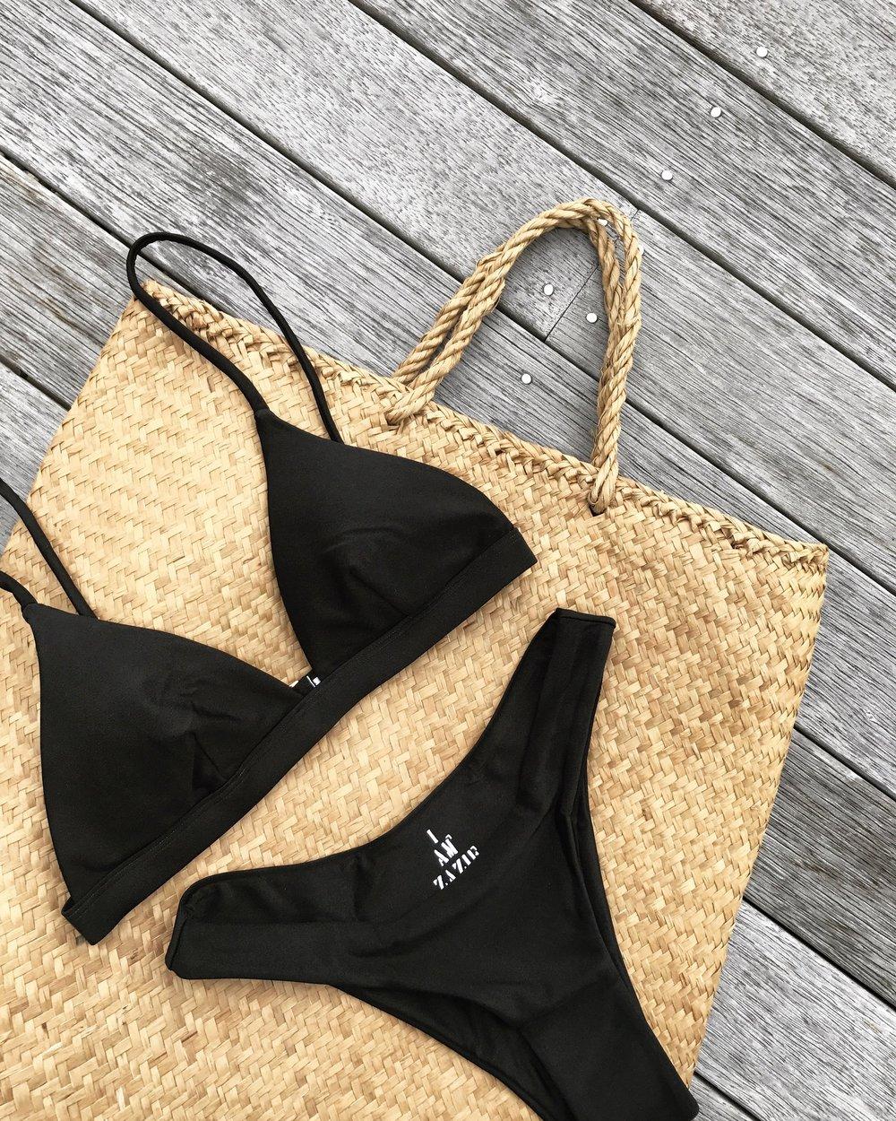 I Am Zazie Swimwear Harper Bikini Espresso Flatlay