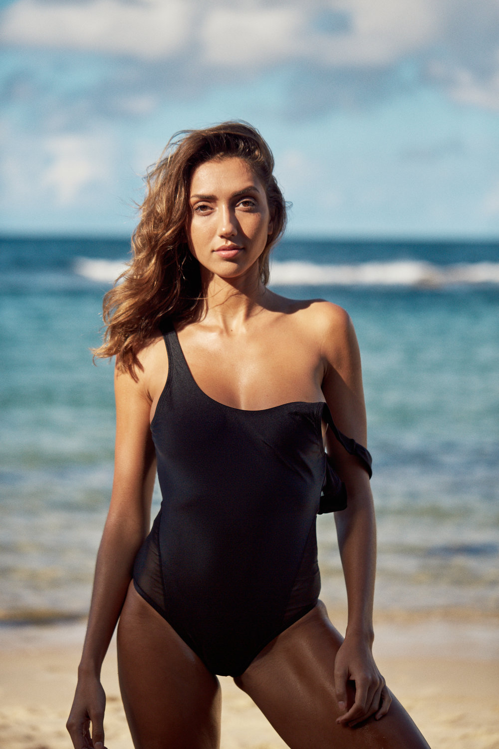 I AM ZAZIE swimwear activism myla one piece espresso