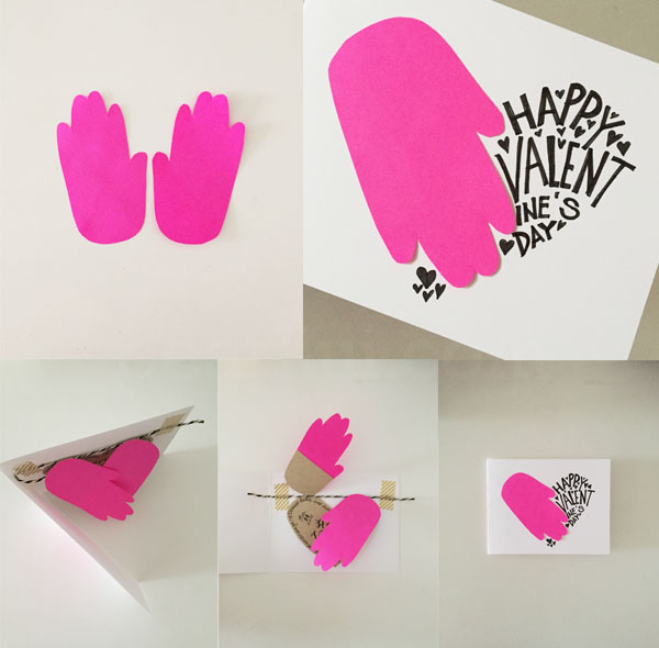 Handmade Valentine Made with Help of Toddler's Hand Prints: Handprint Heart