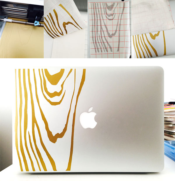 Make Your Own MacBook Wood Grain Vinyl Decal with Silhouette Cameo