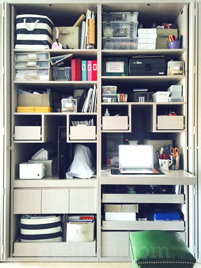 Designing a Small Space Custom Craft Closet