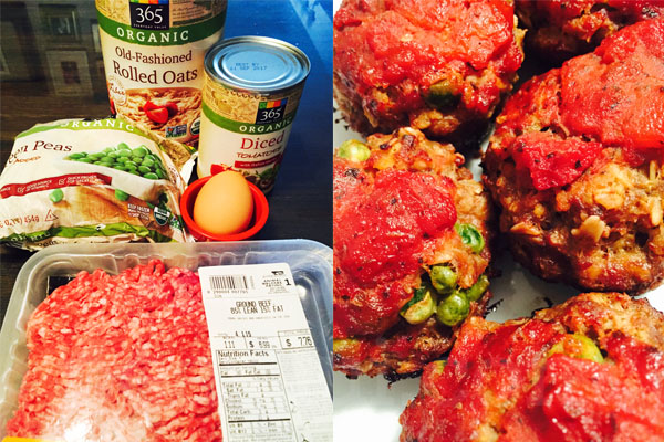 Freezable Meal: Toddler Moist Meatloaf Meatball with Rolled Oats Recipe