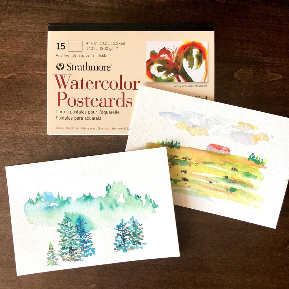 These handy postcards from Strathmore are perfect for on-the-go painting. And when done, they can be sent home with a stamp from location for a personalized souvenir!