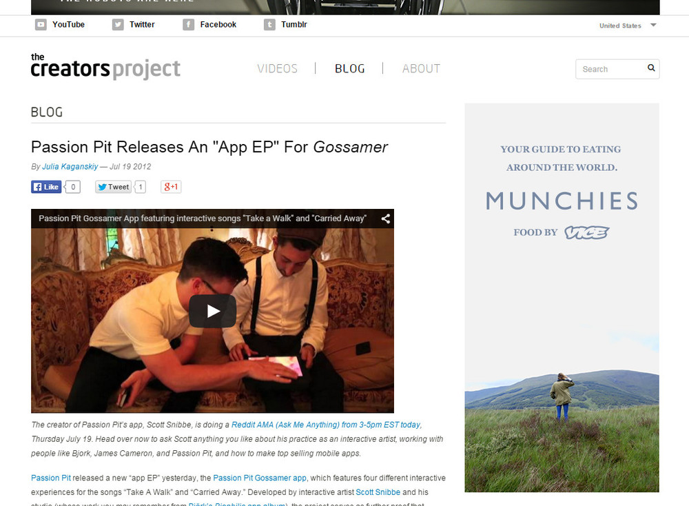 Passion pit gossamer 2012 free download video dailymotion.