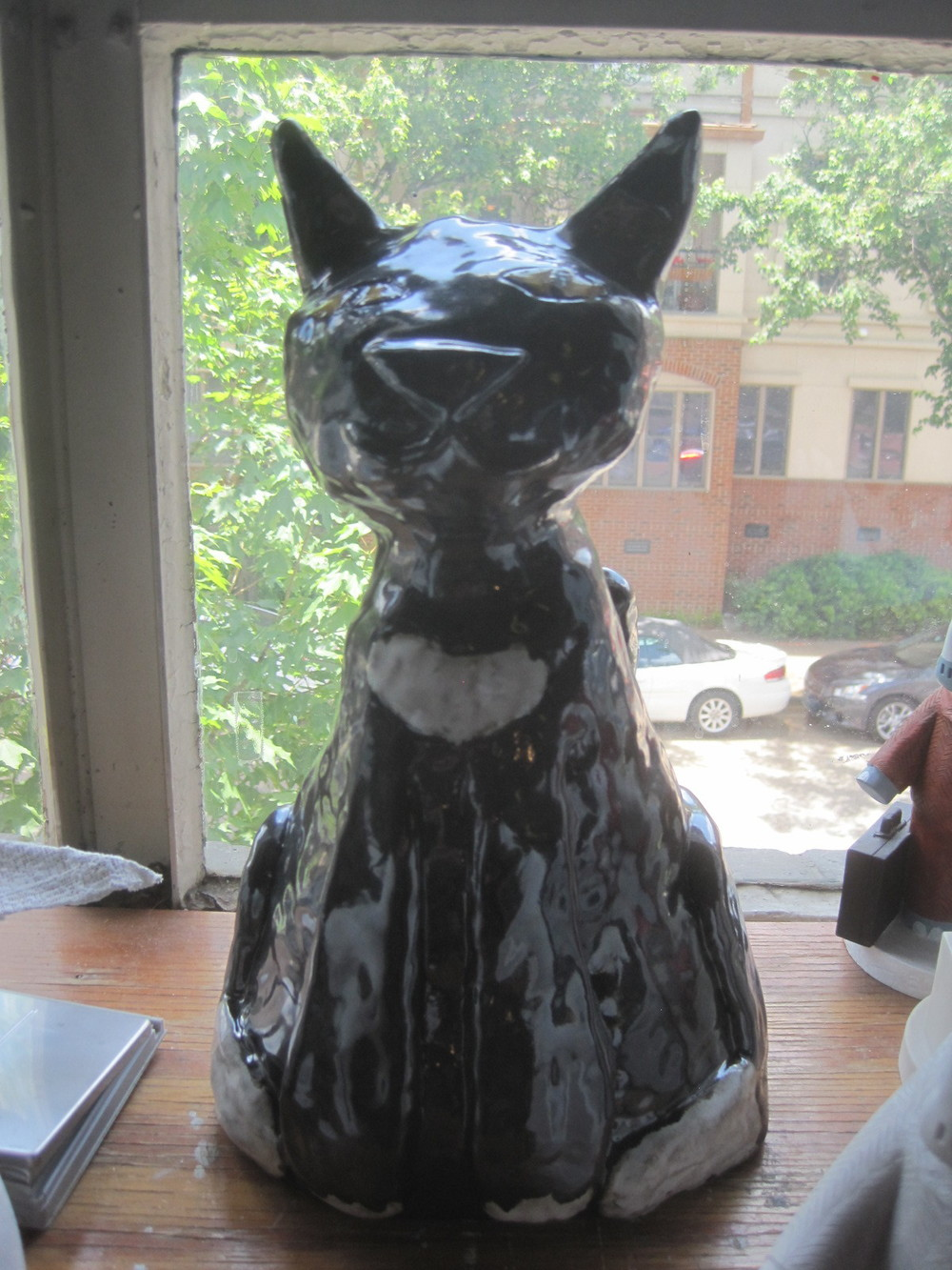 This cat, Louie, is my most recent piece. He is a commissioned sculpture made for the outdoors. He is meant as a memorial piece to a couple who lost their beloved pet.