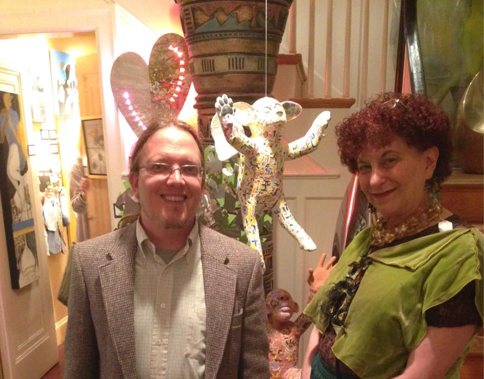 Keith and Zenith Gallery owner, Margery Goldberg