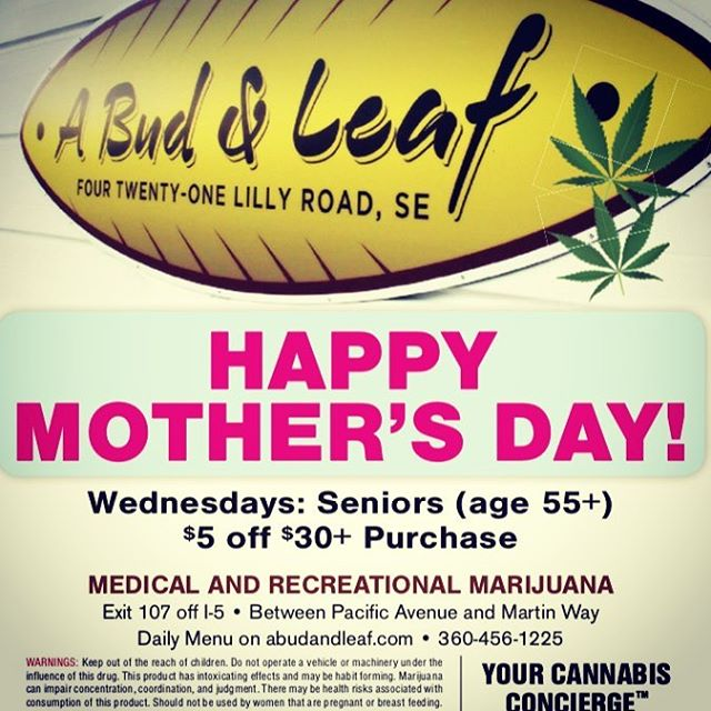 $5 grams to celebrate this Mother's Day Weekend at A Bud & Lead. Happy Mother's Day! #mothersday #instakush
