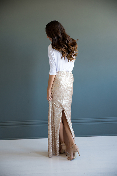 Sequin Maxi Skirt — Bree Lena