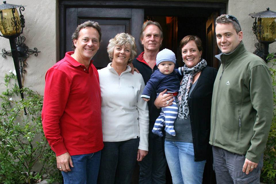 Ian and Keith with Julie Glynn, Brendan, Nicky and James Quinn