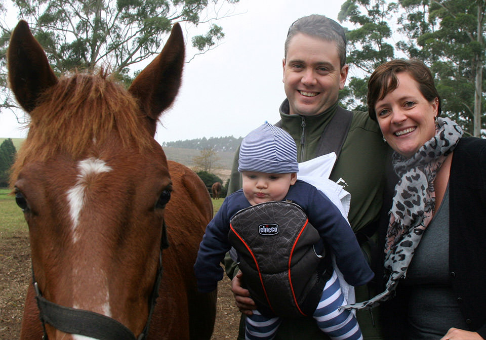 Brendan, Nicky and James Quinn with Plush foal by Pathfork