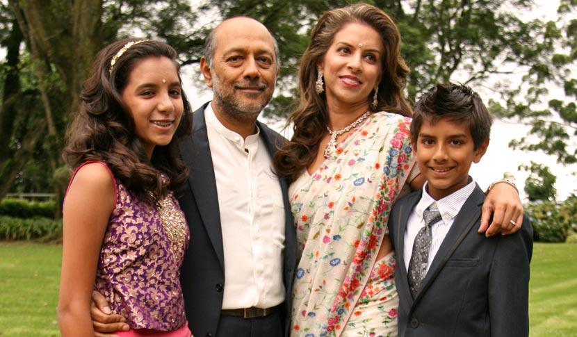 Gyana, Anant, Vanashree and Kiyan Singh