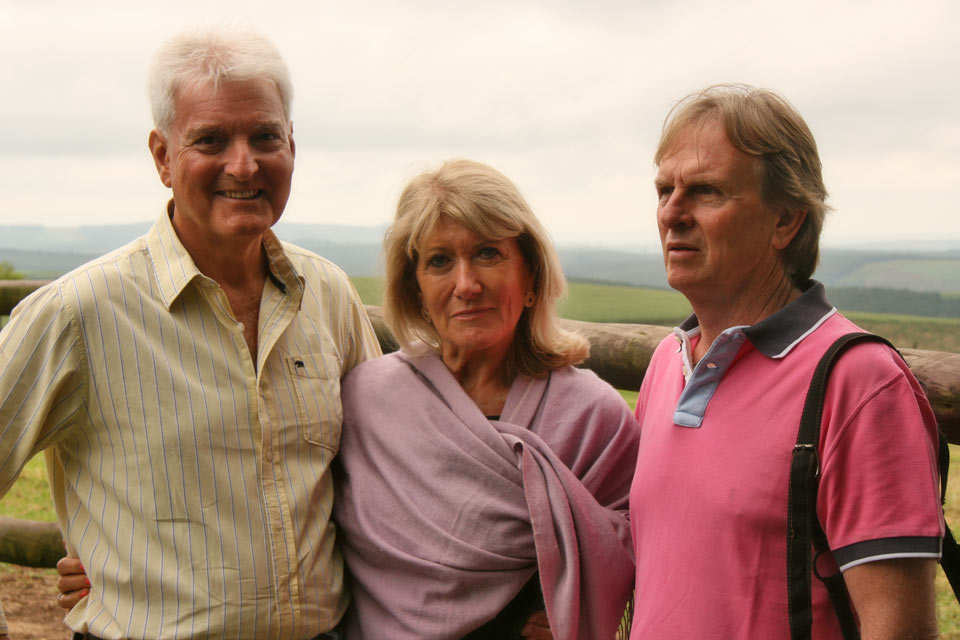 Mike and Vibeke Meehan with Keith