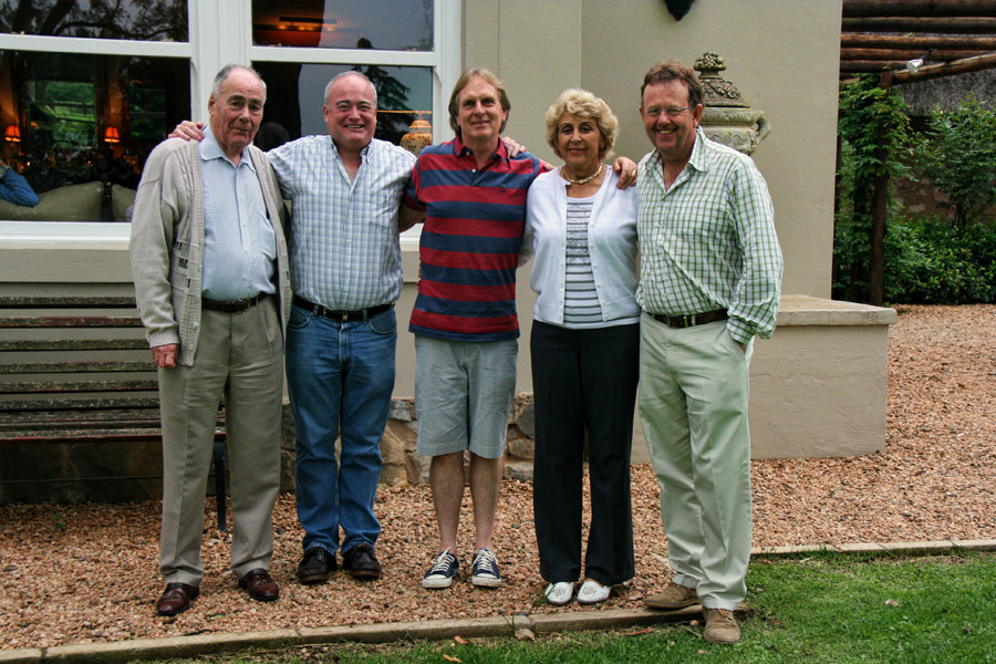 Matthew McElligot, Richard McElligott, Keith Russon, Mary Liley and Alec Hogg