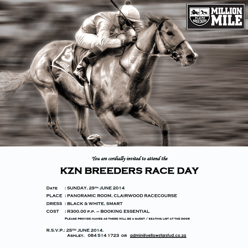 kzn breeders race day 2014