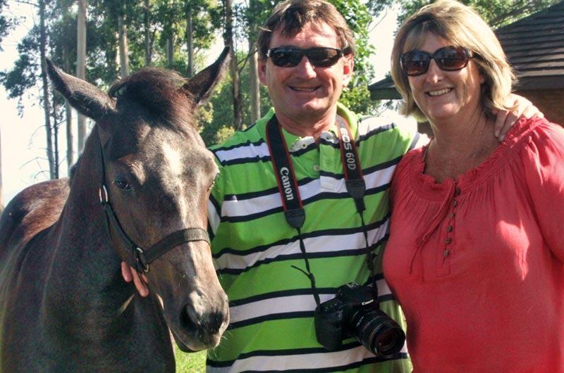 Howard and Merryl Schwegmann with a Tsunami foal by Silvano