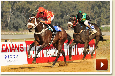 blingle bells runs second to mannequin in banyana handicap
