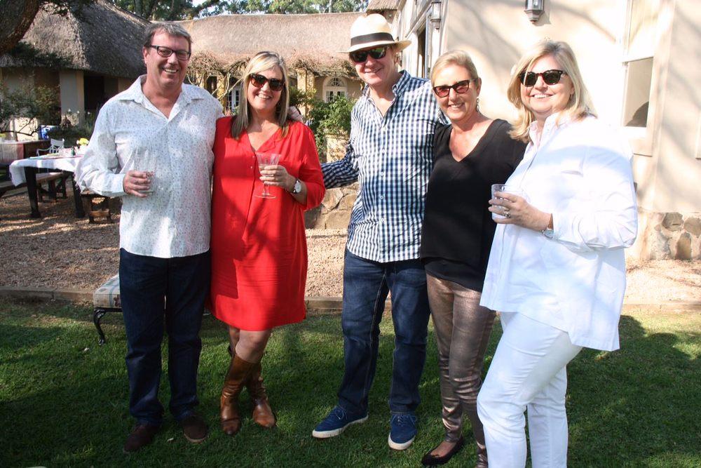 Neil Cameron, Carol Jones, Russell Baxter, Anne Colle & Pam Baxter