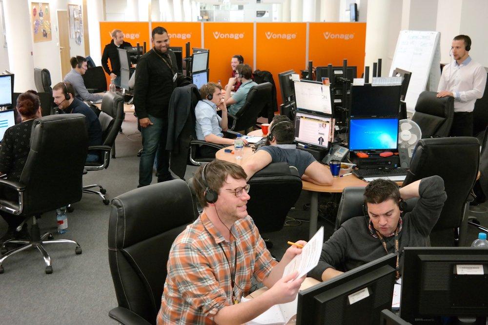 ICON's Vonage UK Team in action!