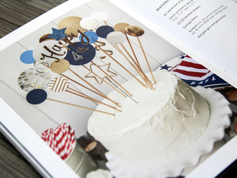 4th of July Cake Toppers Detail