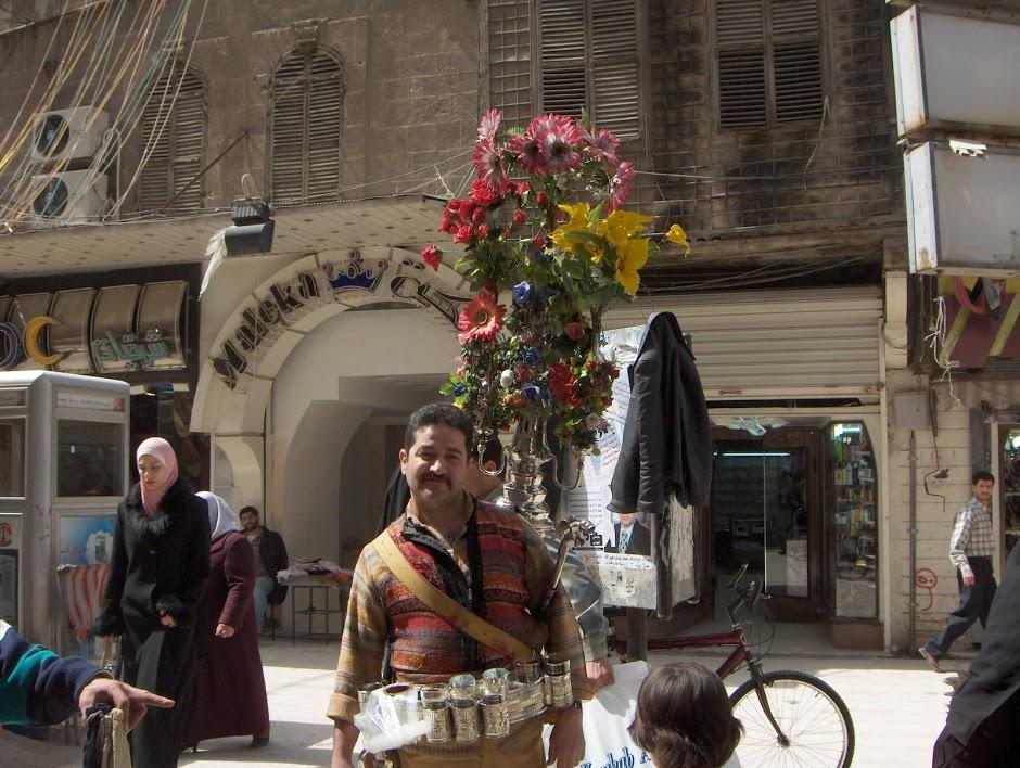 A water salesman in Aleppo near the Al-Jdeide quarter.