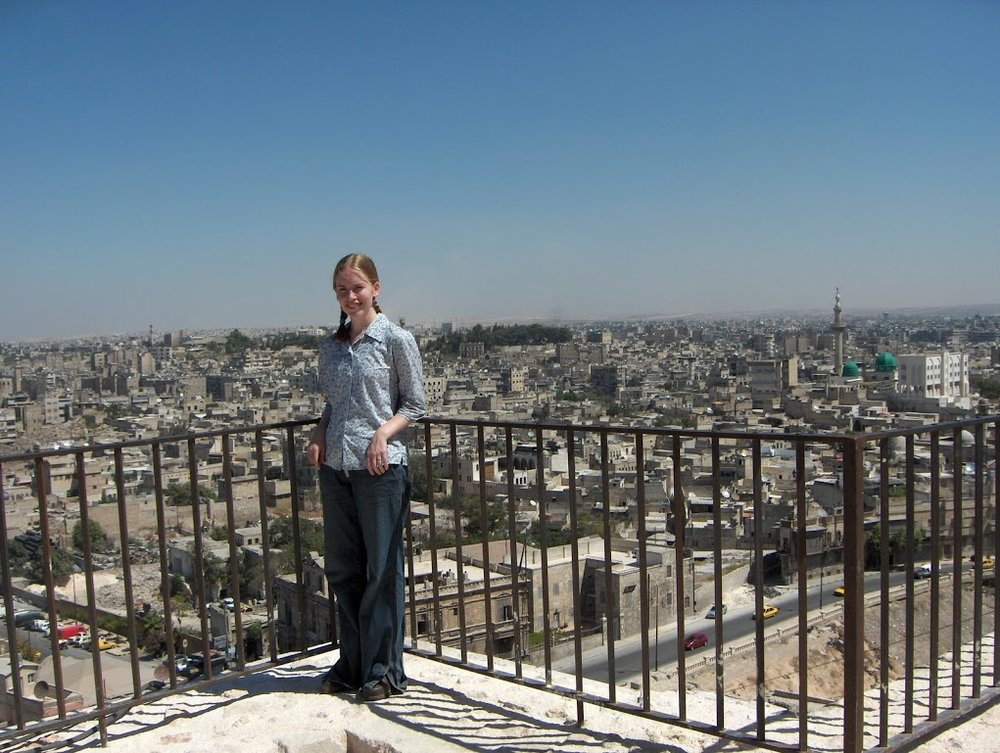 At the Citadel in Aleppo, which was used for war hundreds of years ago and then again in recent years.