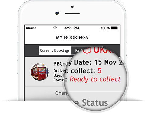 Parcelly Mobile App - We notify you as soon as your parcel is ready for collection. All you do is collect, easy peasy!