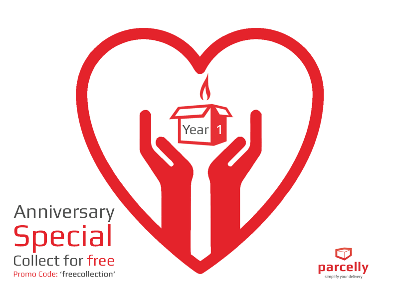 Parcelly is very happy to celebrate the first anniversary!